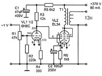Vox ac 50 power amp двухтактный ламповый усилитель на el34 (50 вт).