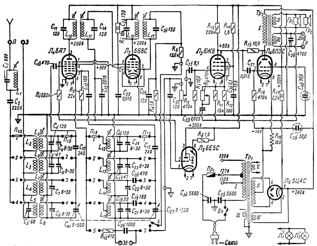 Схема радиола даугава