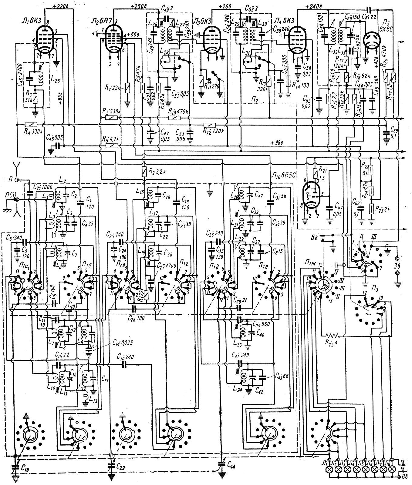 各位看看图片上方是什么电子管收音机?