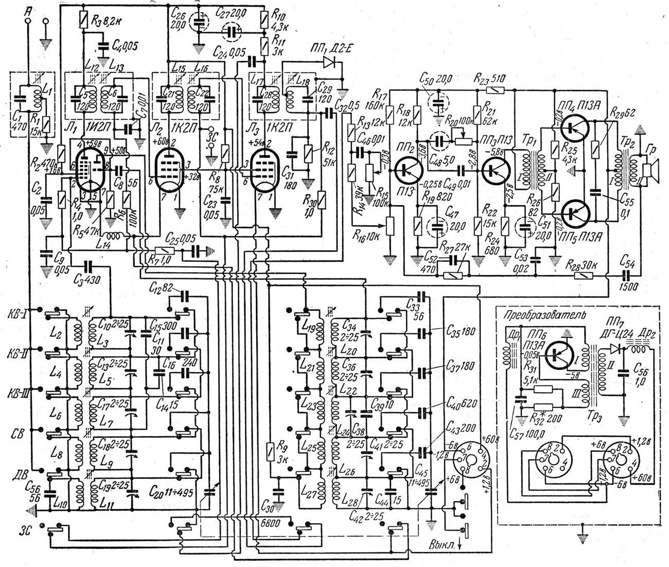 Схема радиола ригонда