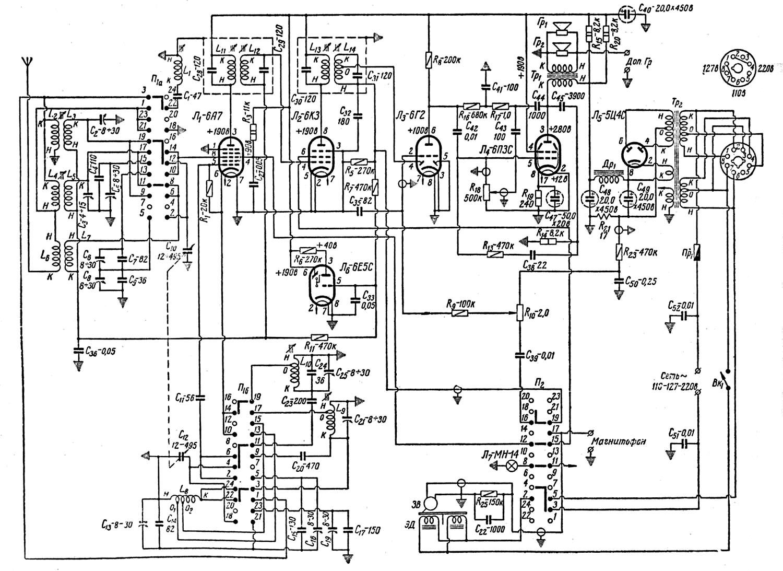 схема звукоснимателей