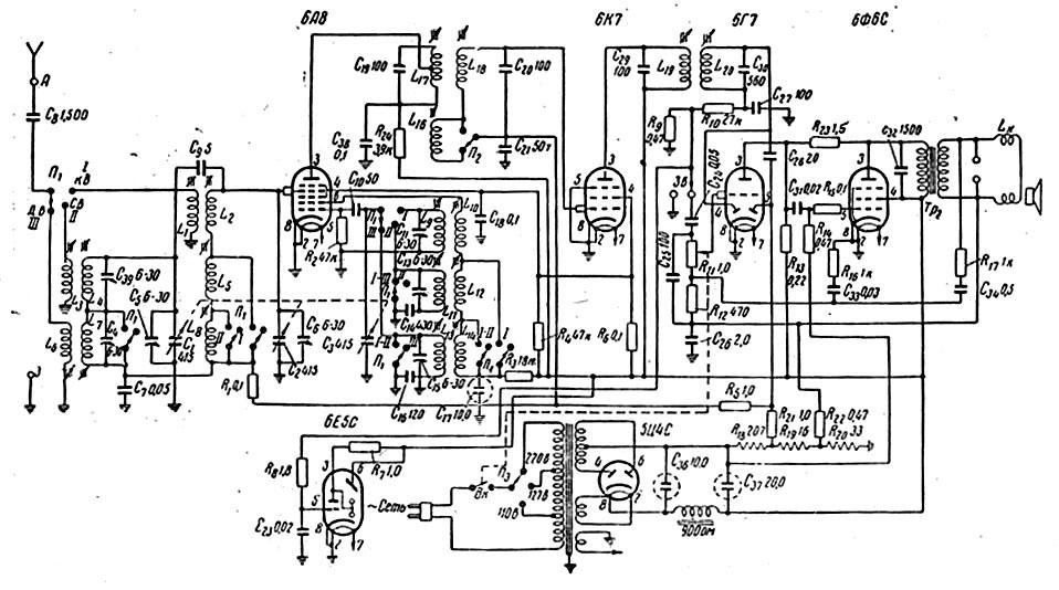 схема приемника vef 10.